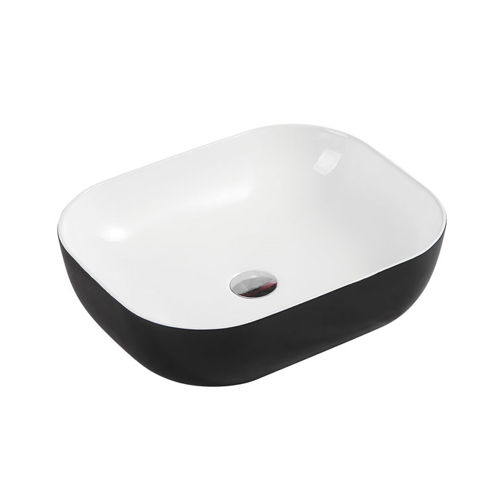CH43 Art Basin - Touchline White Matt Black