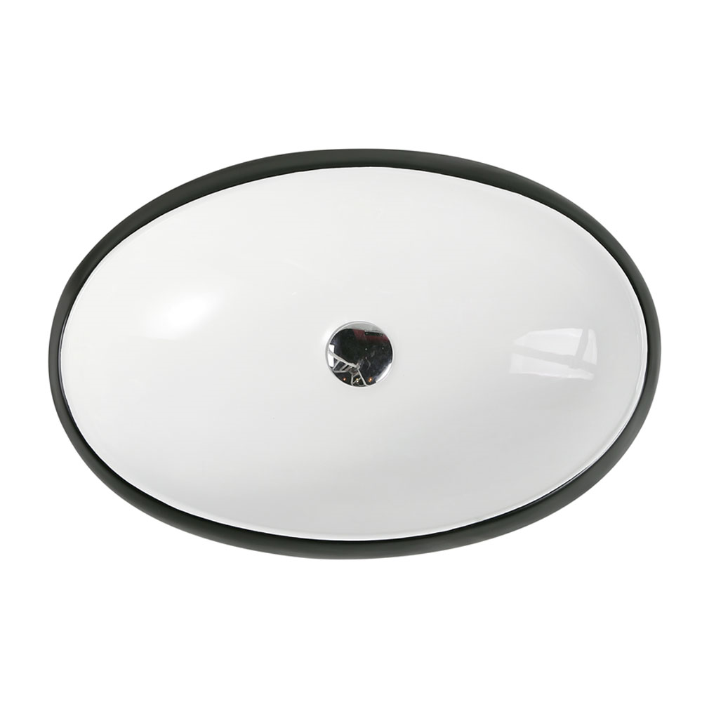 CH33 Art Basin - White Matt Black