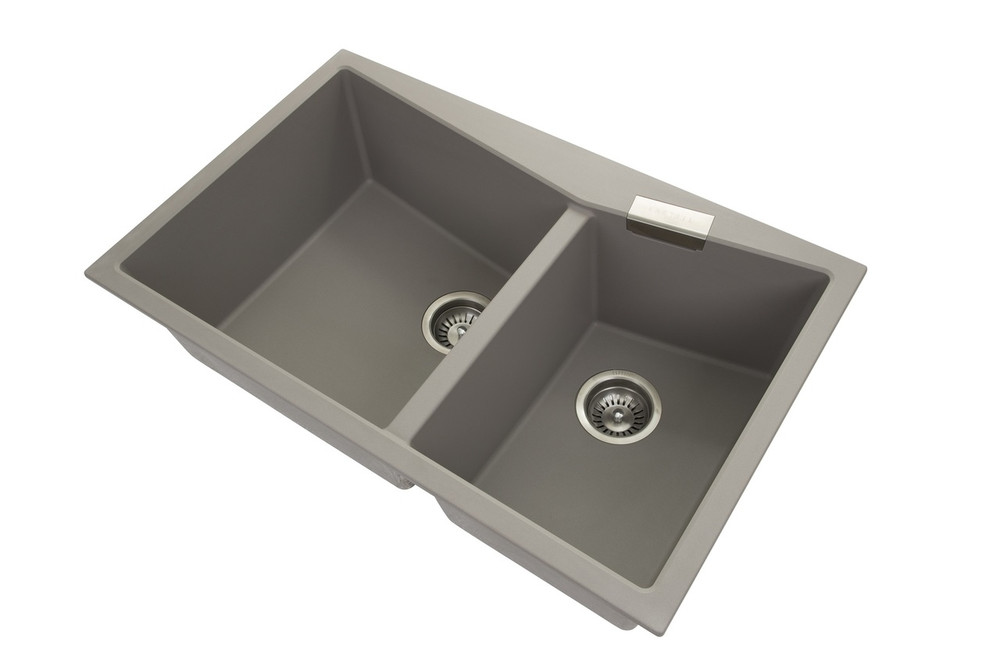 CARYSIL CGDB3220 DOUBLE BOWL GRANITE KITCHEN SINK 800MM X 500 MM X 220MM