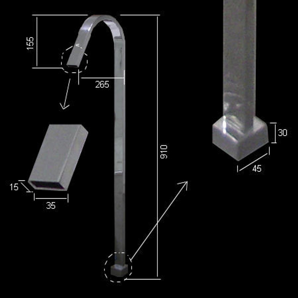 Square Free Standing Bath Filler Spout