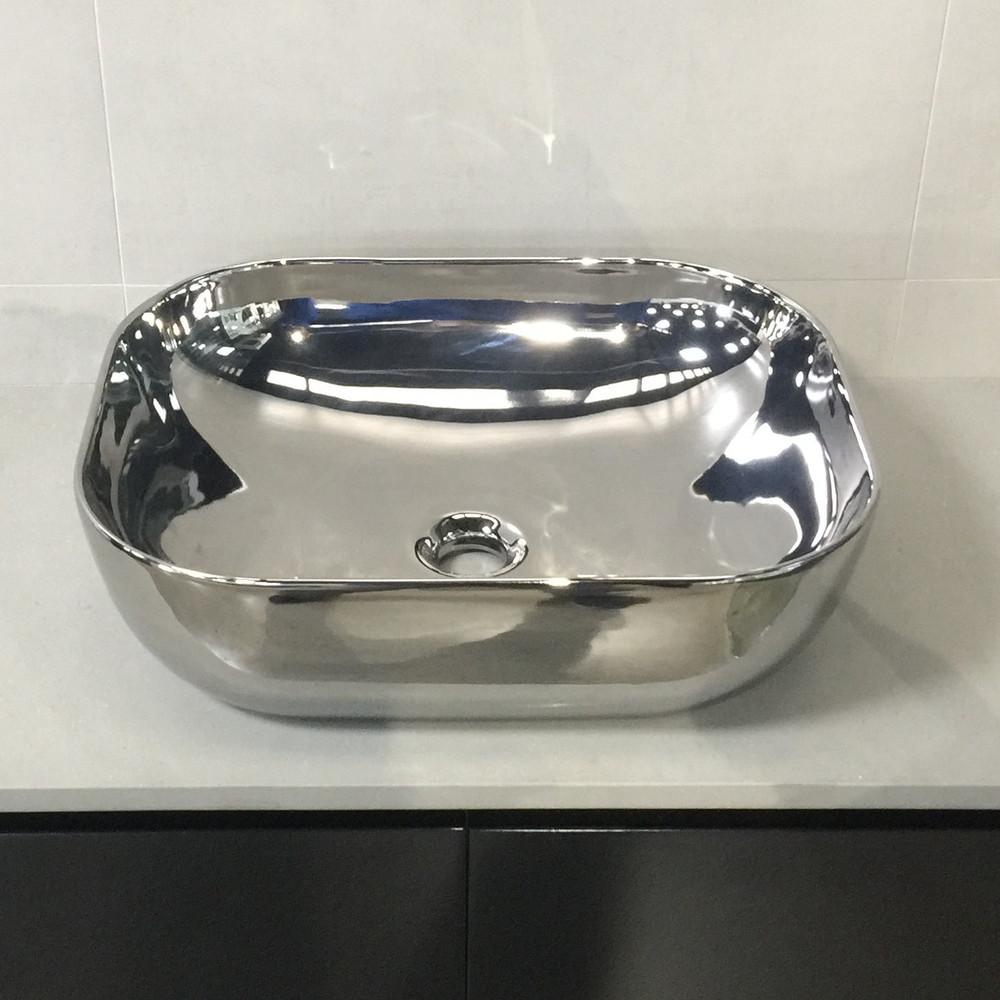 Silver 4mm Ultra Slim Ceramic Basin 2143S