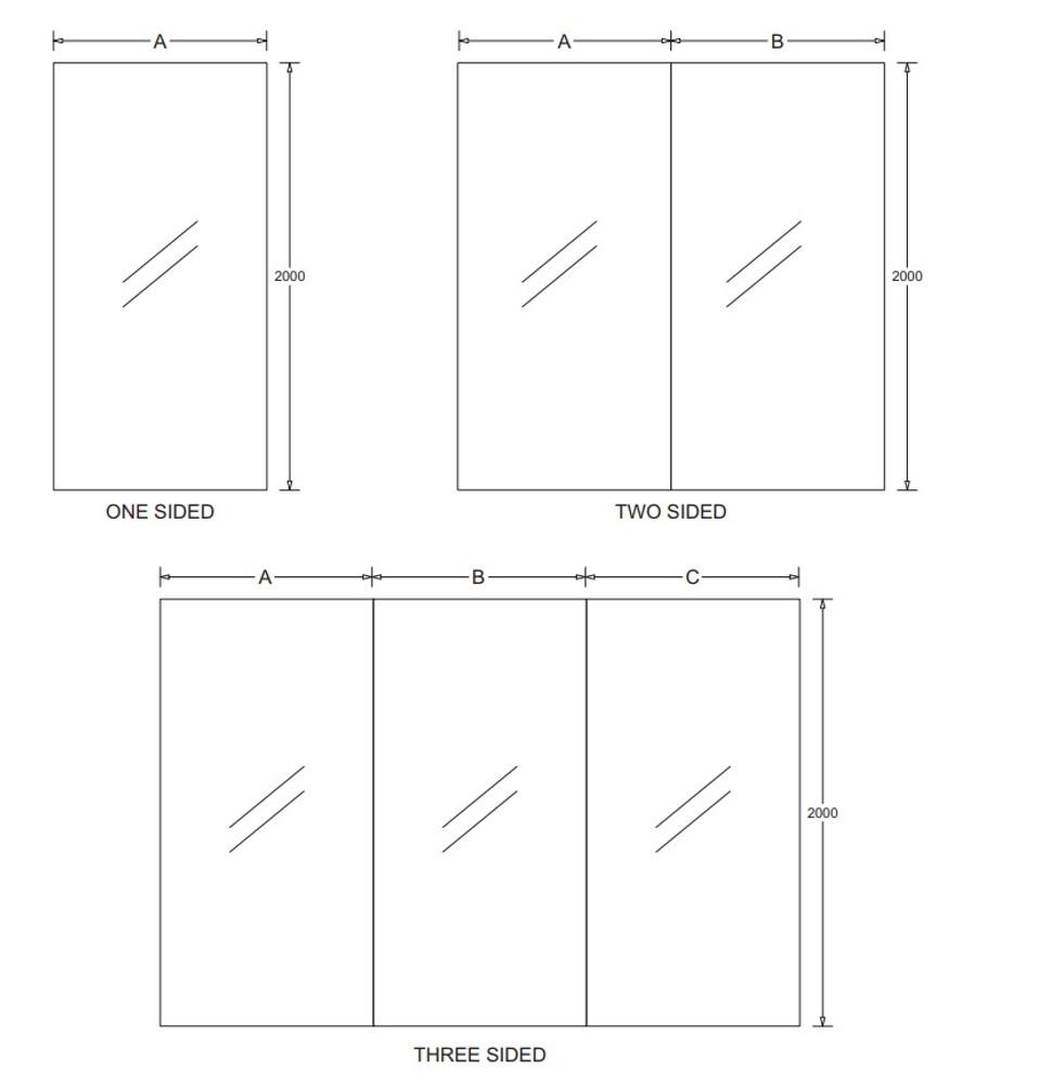 Marbletrend  Standard Shower Walls White 2000