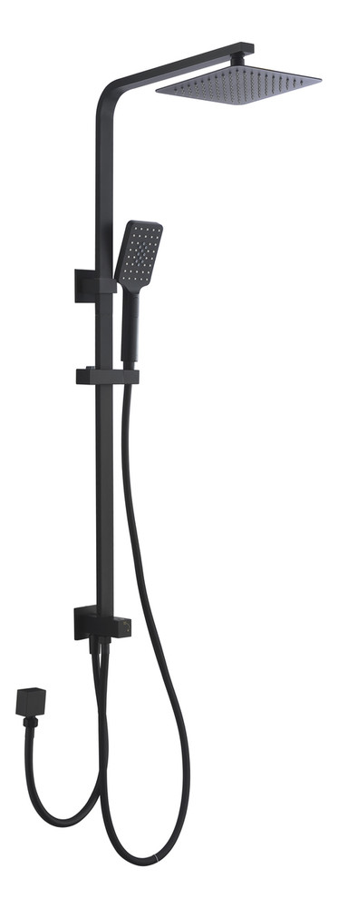 Black Square Twin Shower Combination Side Inlet