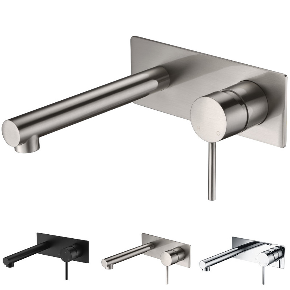 ikon HALI Wall Mixer and Spout Combination Unit - Chrome, Matte Black, Brushed Nickel
