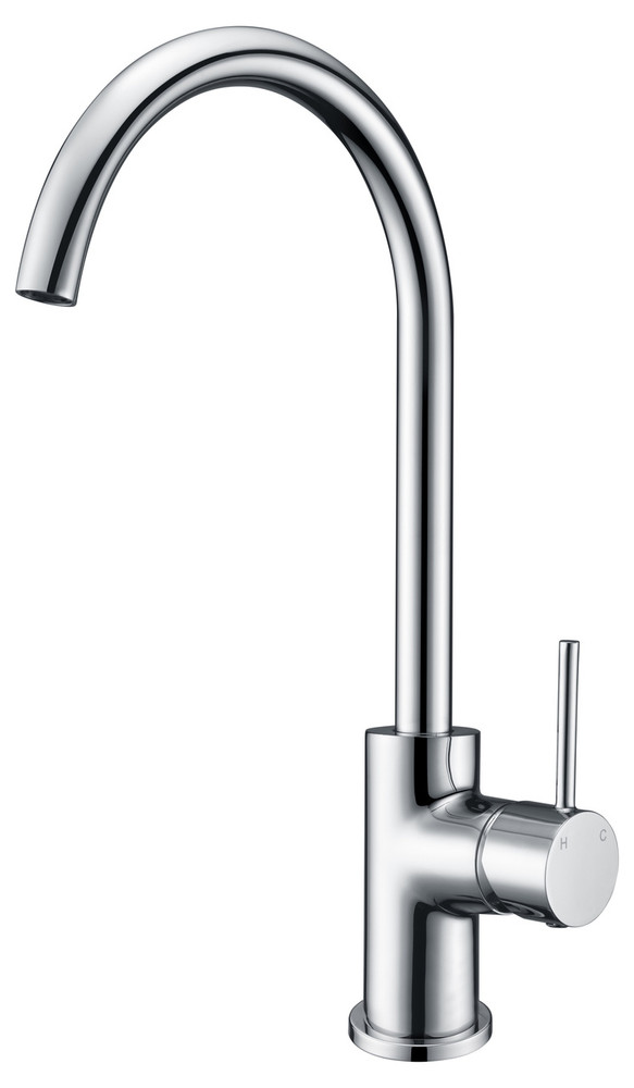 ikon HALI Goose Neck Sink Mixer  Chrome, Matte Black, Brushed Nickel