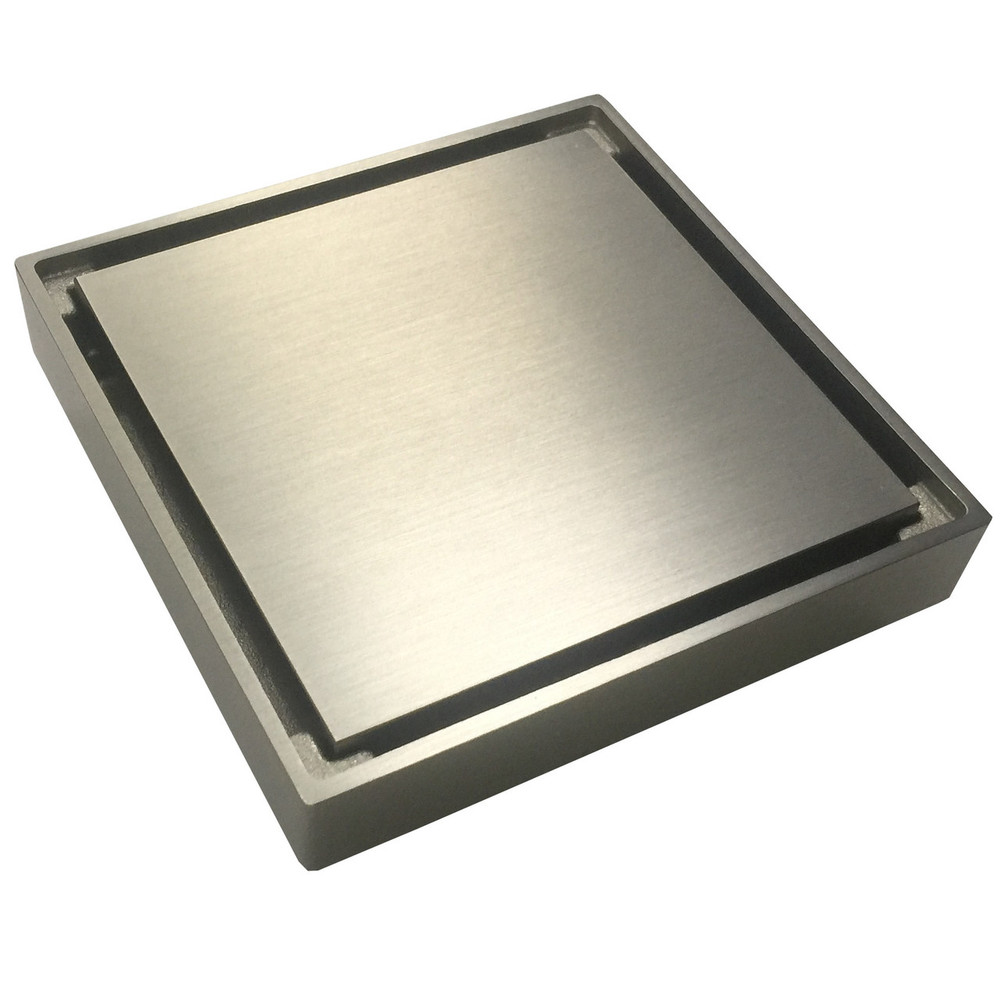 2 In 1 Tile Insert Or Normal Floor Waste - Brushed Nickel Satin 80mm