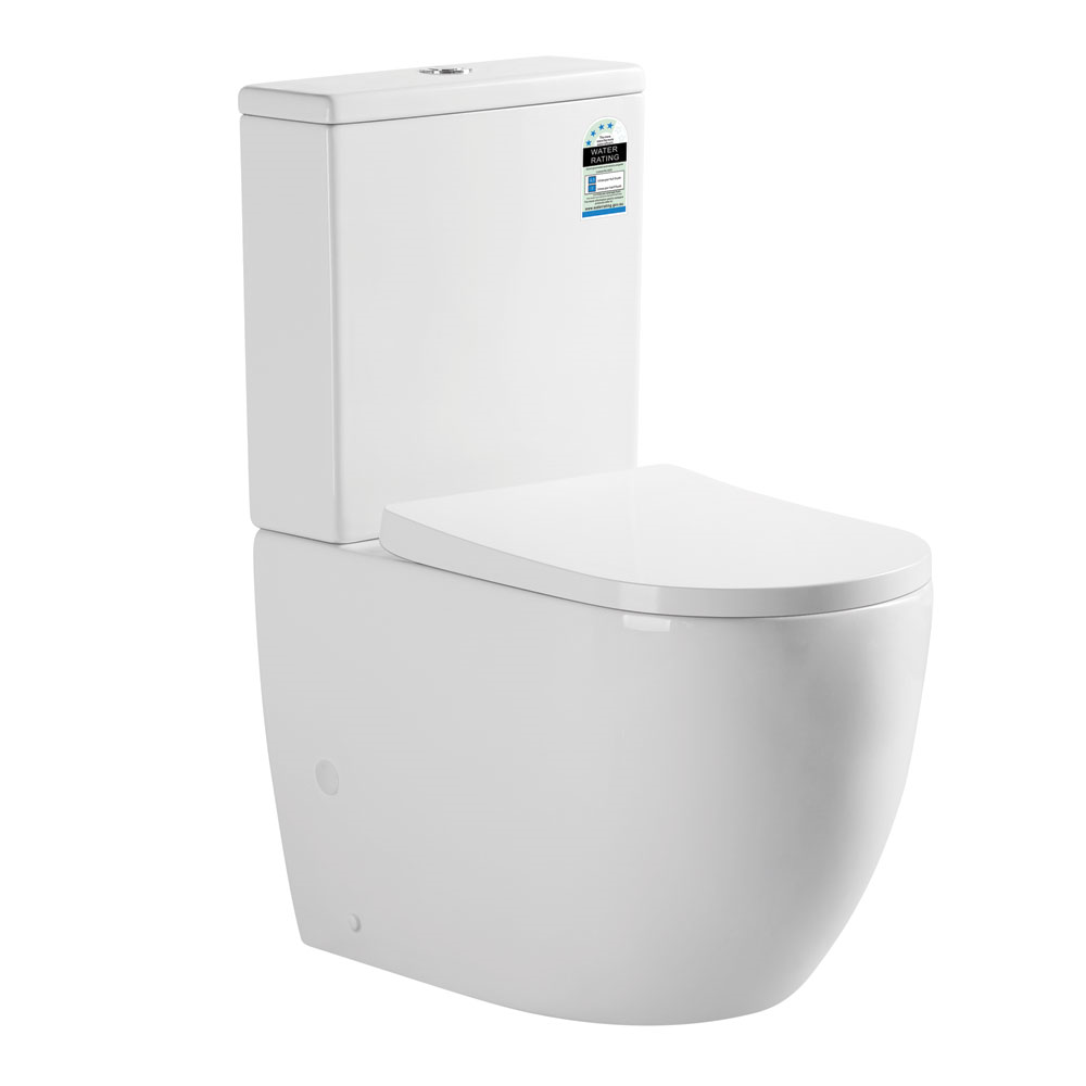 Danube Rimless Wall Faced Toilet Suite