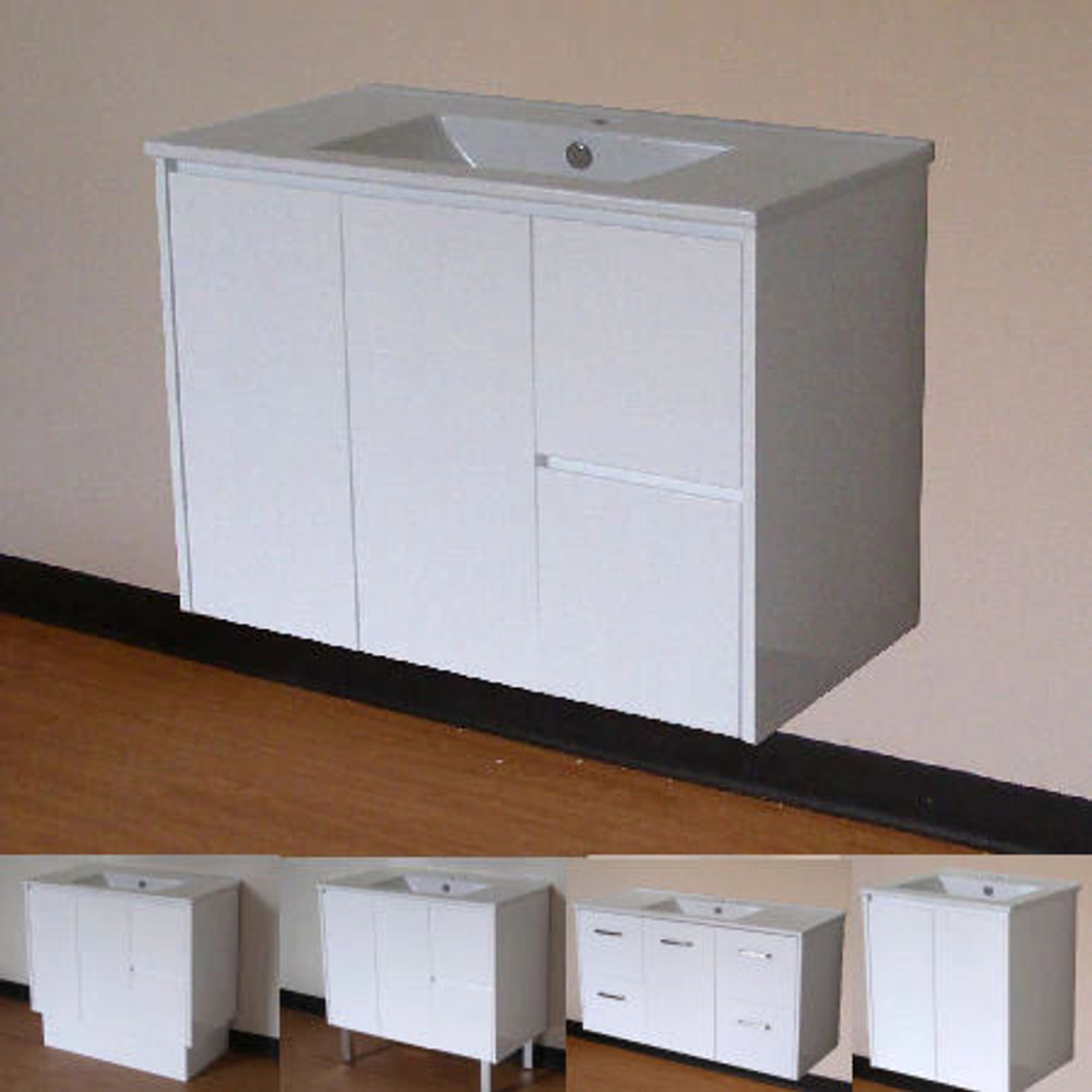 Normandy Evolution Vanity with Aries Ceramic Basin Top - Size: 600 750 810 900 1000 1200 1500 & 1800mm