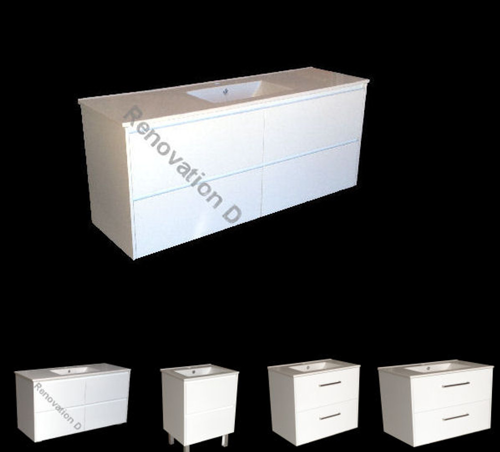 Normandy Evolution DRAWER ONLY Vanity with Aries Ceramic Basin Top - Size: 600 750 810 900 1000 1200 & 1500mm