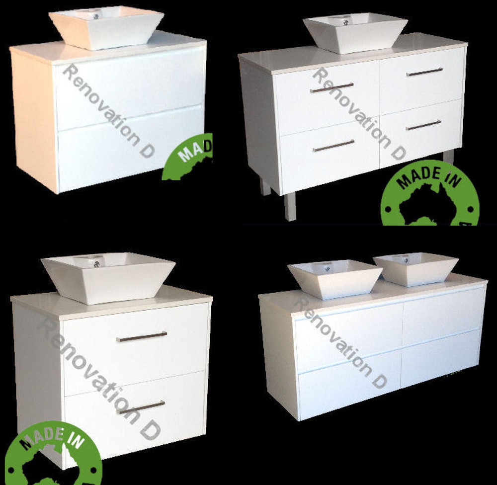 Normandy Evolution Drawer Only Vanity with Stone Top & Bench-top Basin - Size: 600 750 810 900 1000 1200 1500 & 1800mm