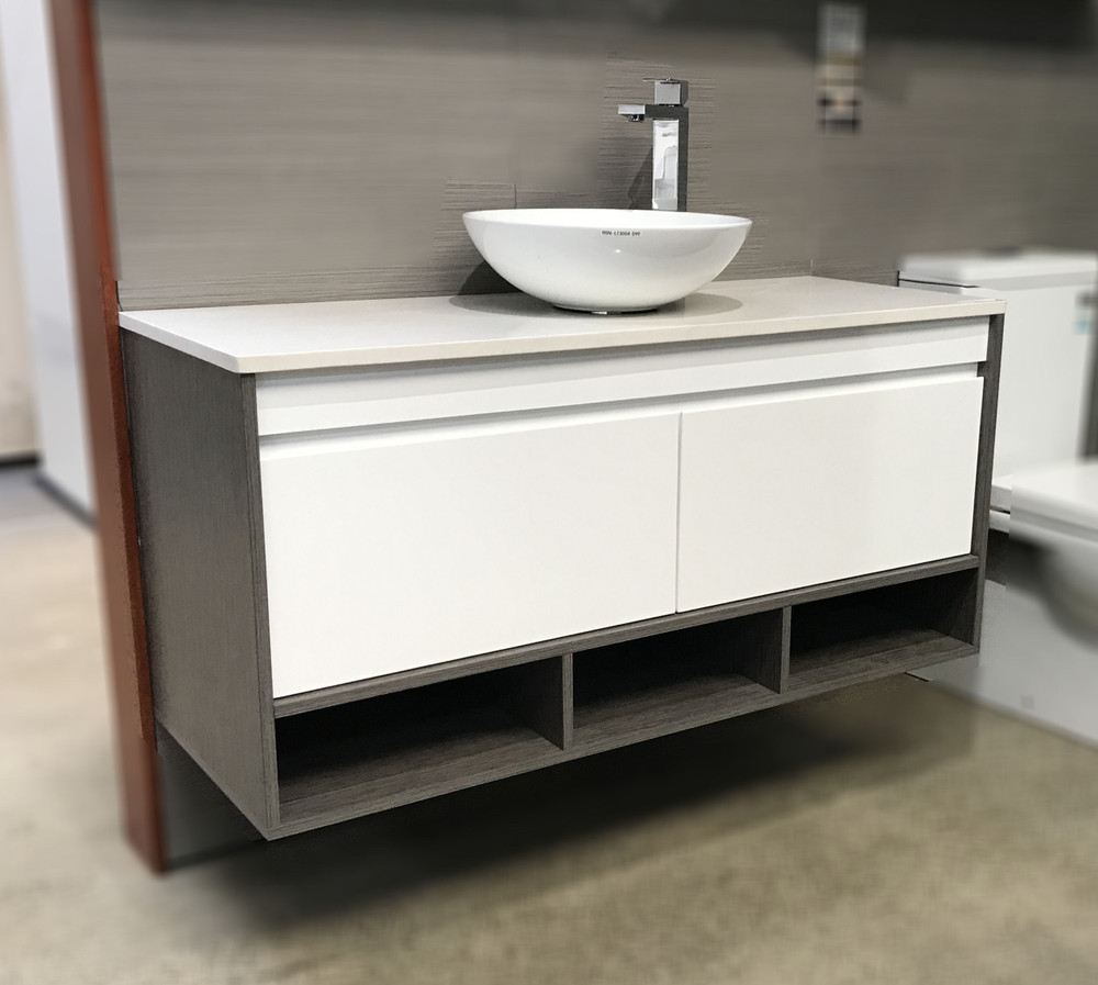 Panda Vanity with Stone Top & Bench-top Basin - Size: 600 750 900 1200 1500 & 1800mm