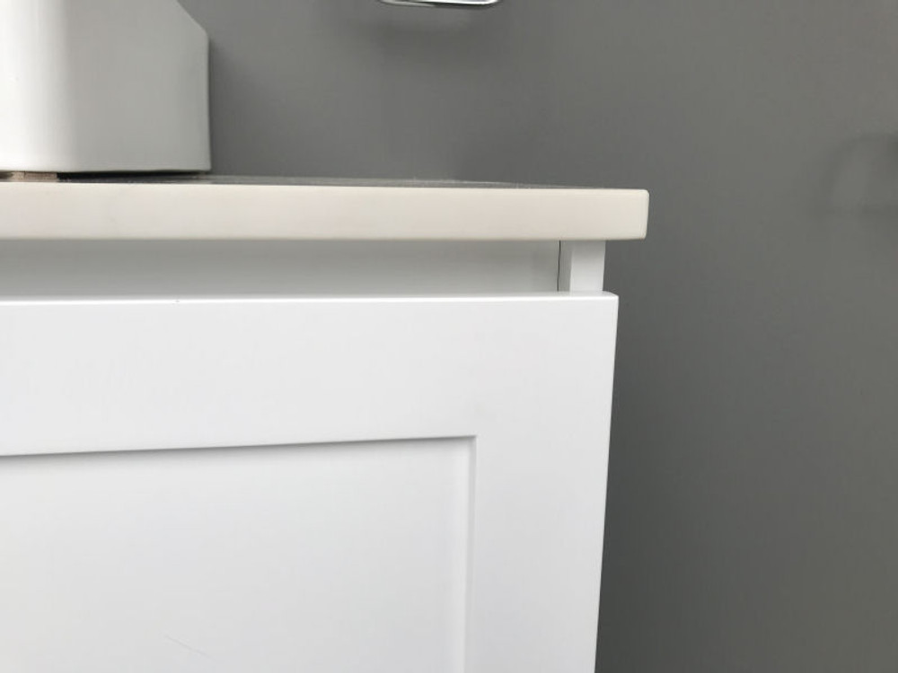 England Shaker Hampton Style 600 mm Vanity with Stone Top & Bench-top Basin