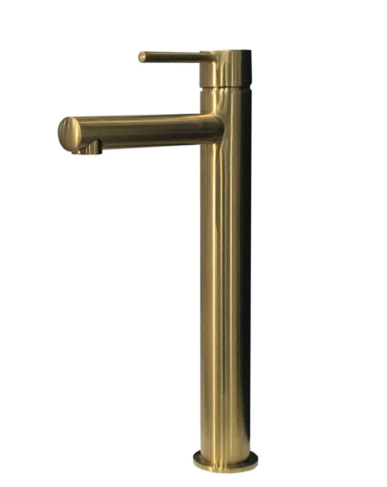 GOLD | BRASS Lollypop Tower Basin Mixer Tap