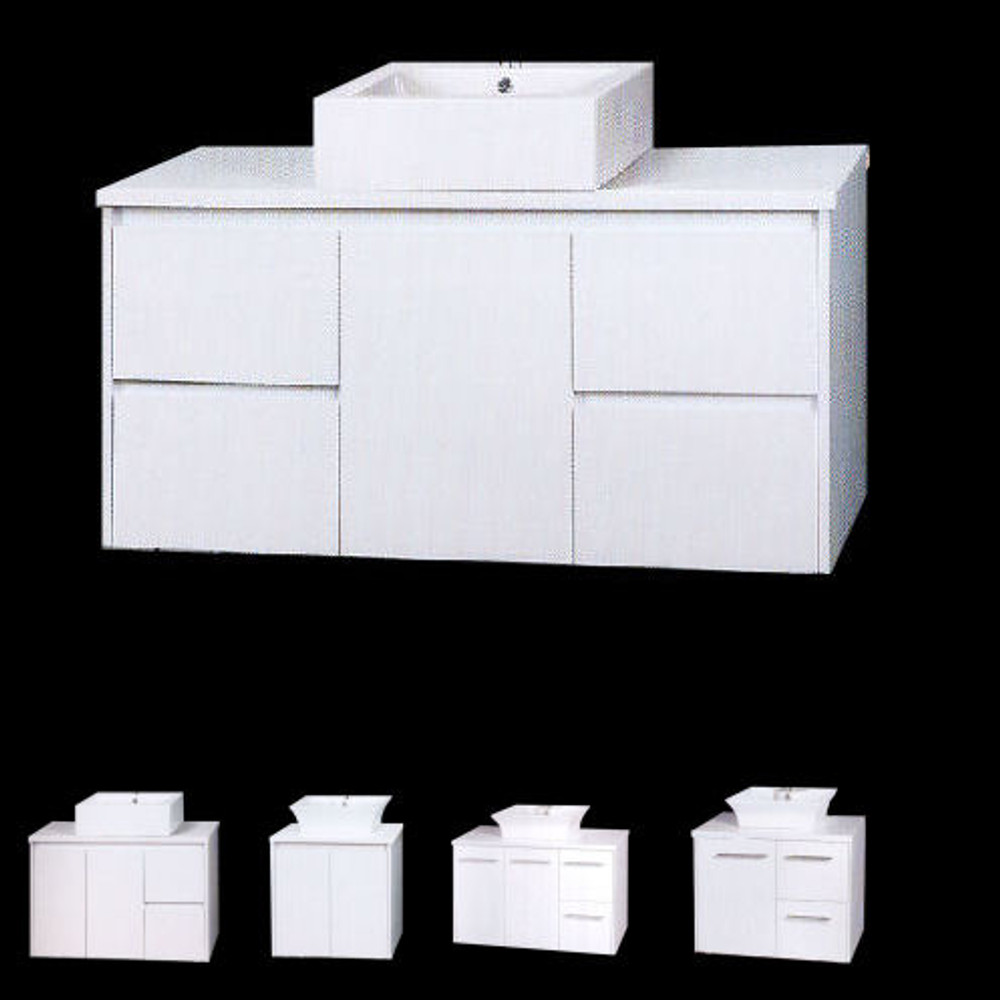 Normandy Evolution-MINI Vanity with Stone Top & Bench-top Basin - Size: 600 750 810 900 1000 1200 1500 & 1800mm
