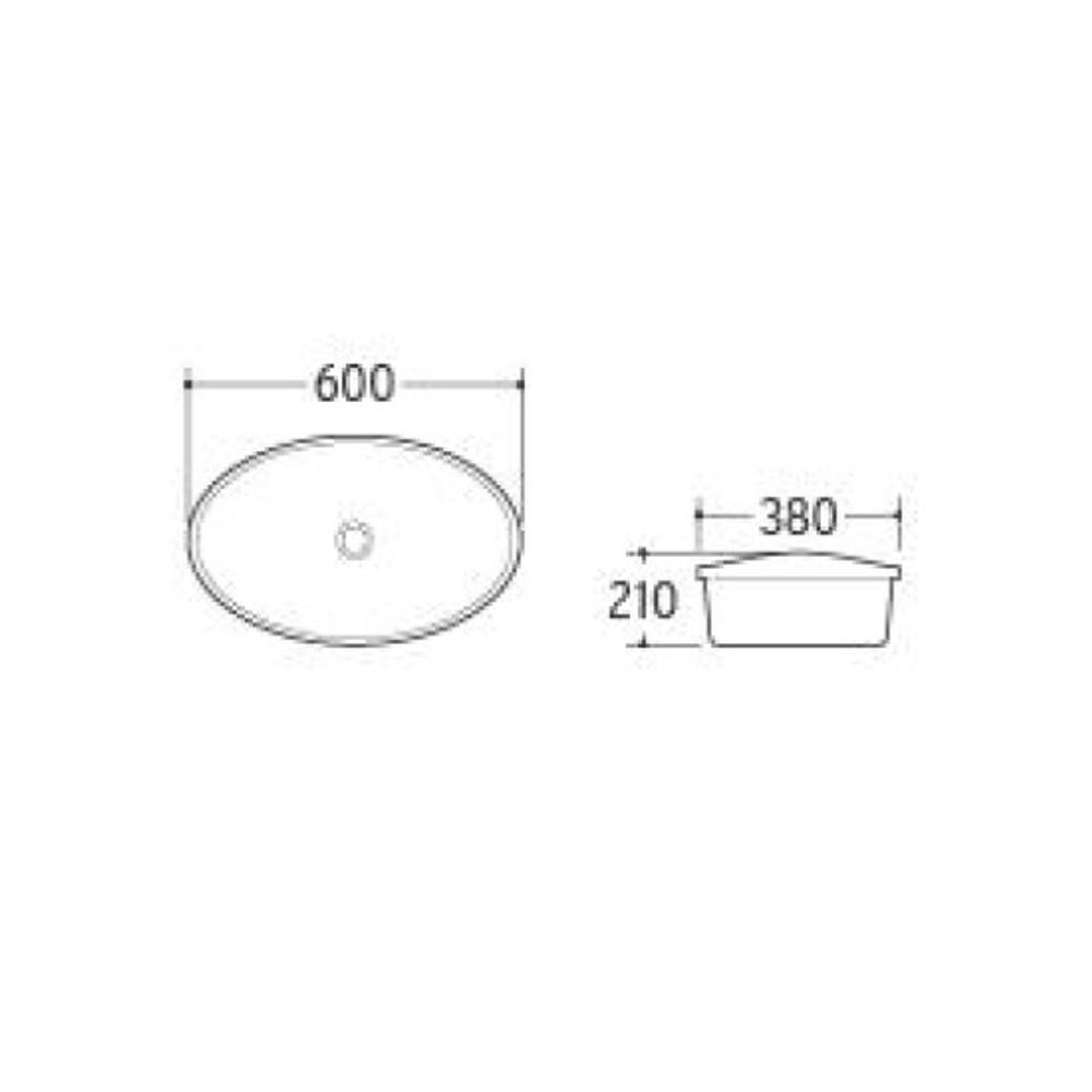 Oval Drop In Basin 5073
