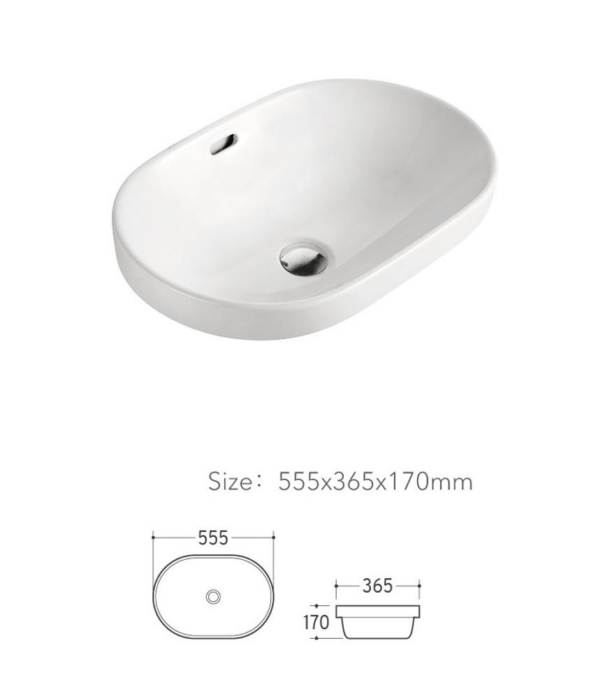 Oval Drop In Basin 5073A