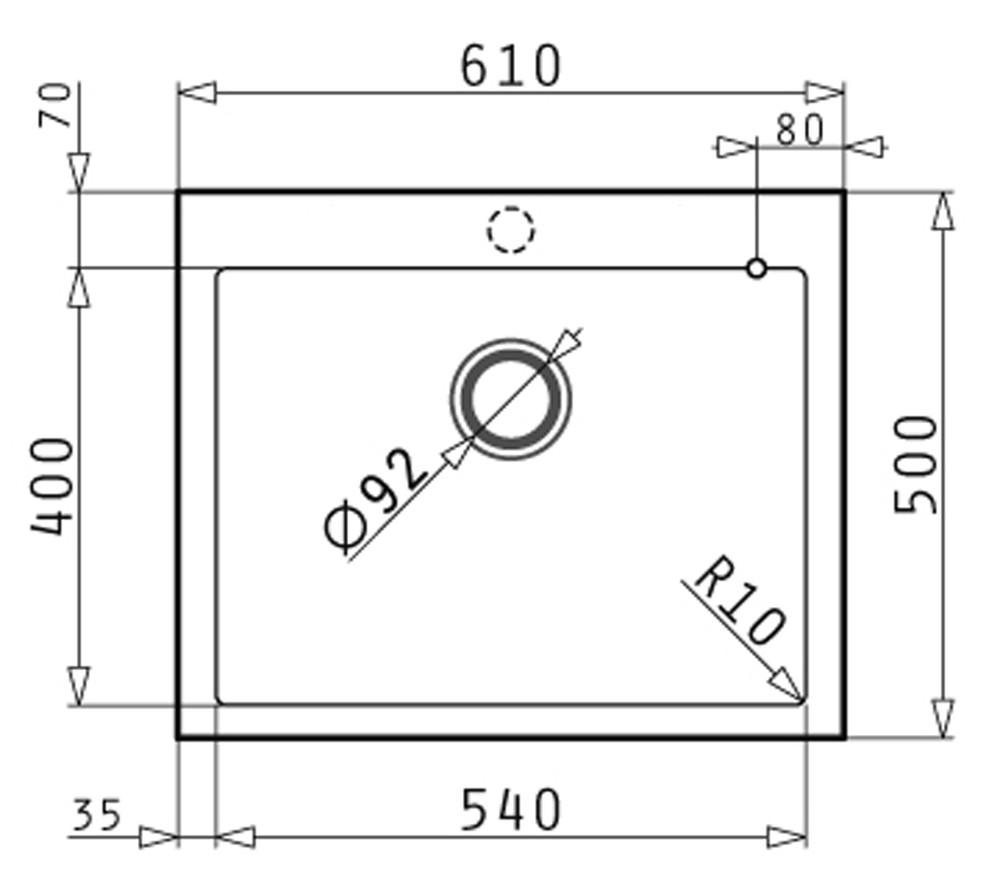 PYRAGRANITE Granite Kitchen Sink - Under Mount & Drop In - Single Bowl 540  Made In Europe