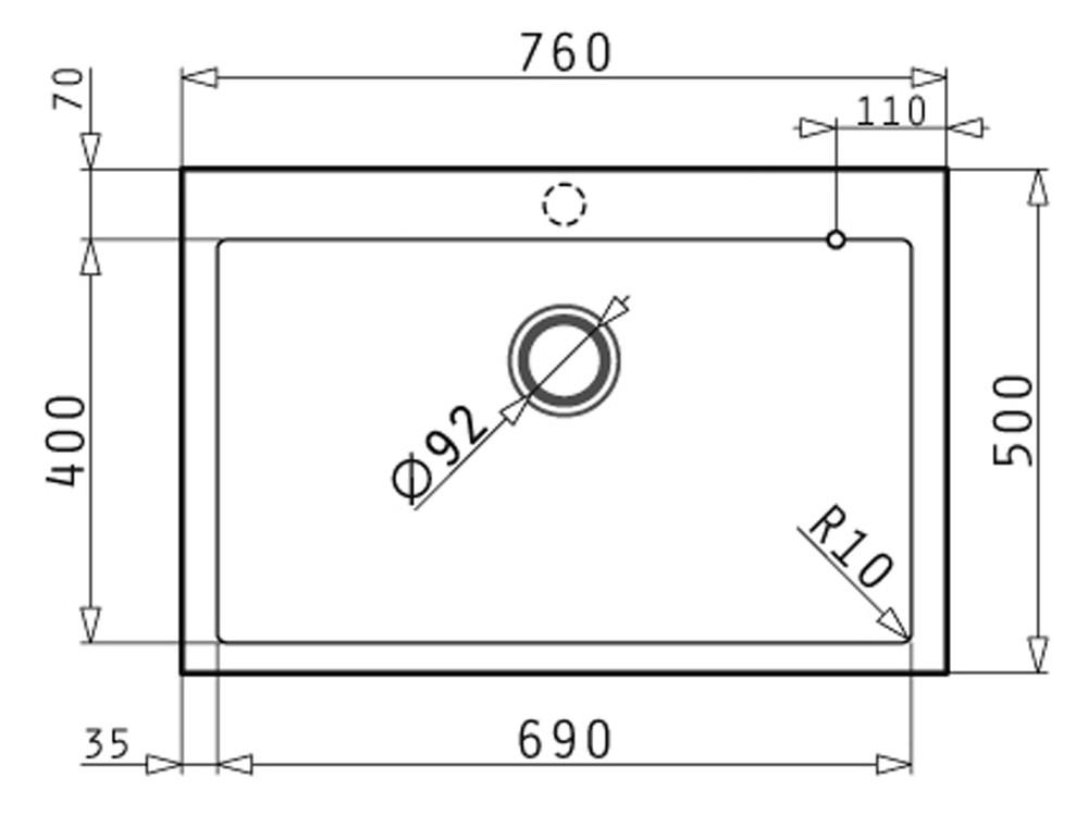 PYRAGRANITE Granite Kitchen Sink - Under Mount & Drop In - Single Bowl 690  Made In Europe