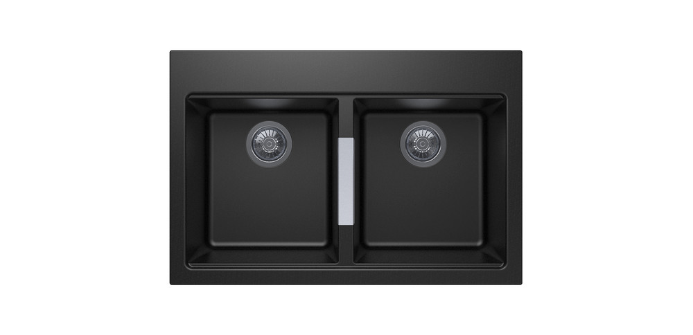 CARYSIL CG2B3322 DOUBLE BOWL GRANITE KITCHEN SINK 800 × 460 × 241 mm