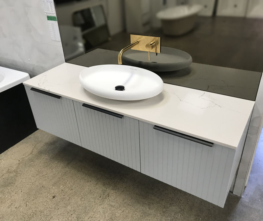 Normandy Cottage Vanity with Stone Top & Bench-top Basin - Size: 600 750 900 1200 1500 & 1800mm