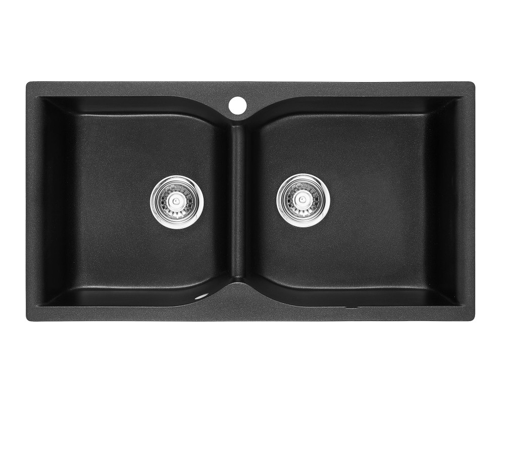 Normandy Granite Kitchen Sink - Drop In - Double Bowls - 900x480