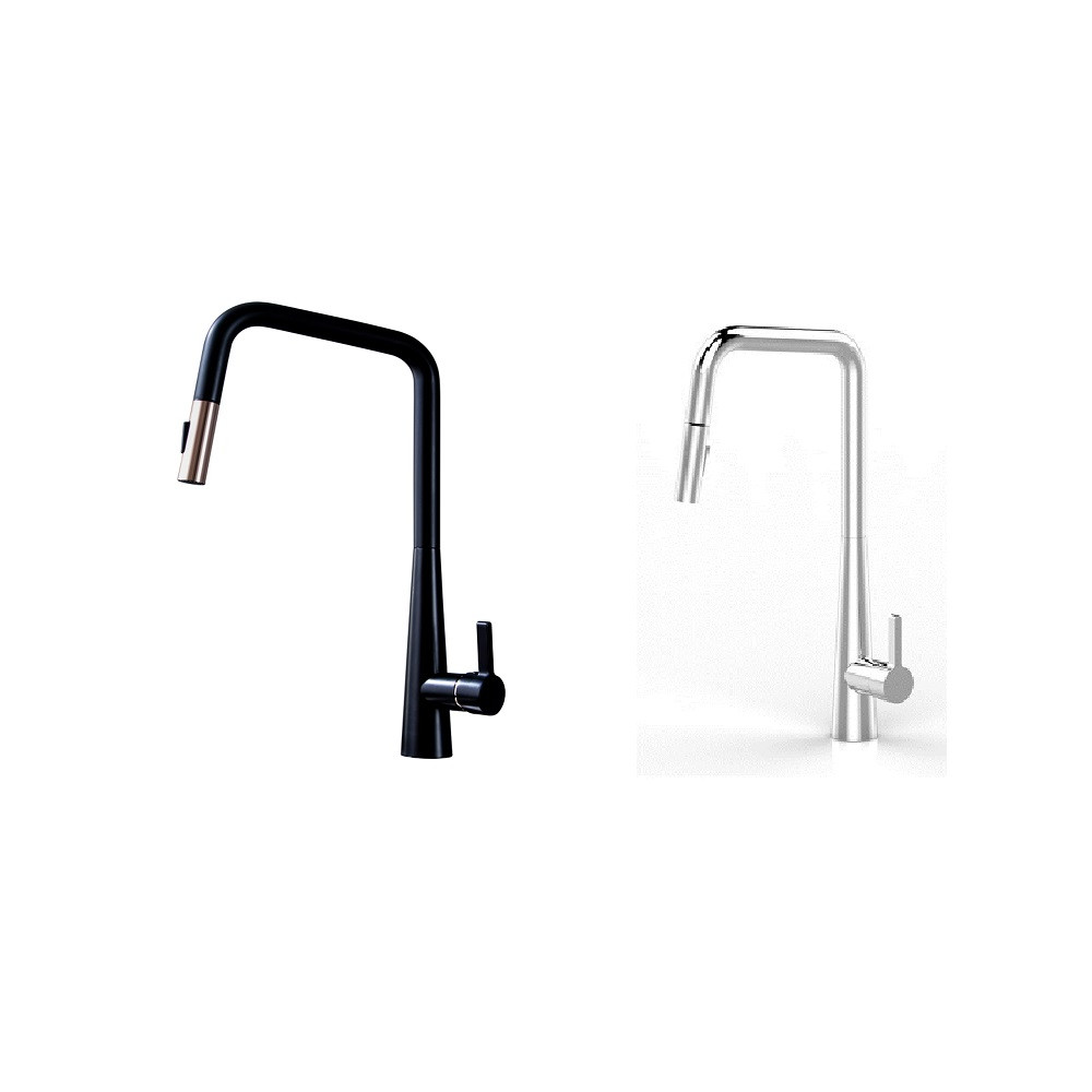 NORMANDY LOLLYPOP  MULTIFUNCTION PULL OUT  KITCHEN  SINK MIXER - CHROME BLACK ROSE GOLD