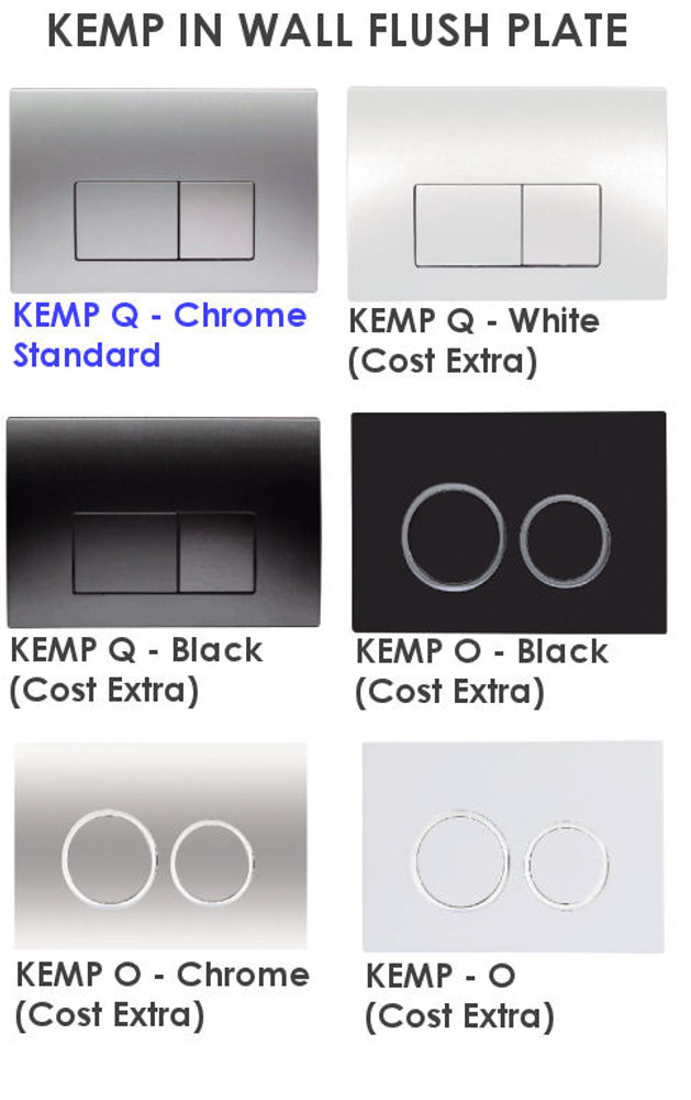Black KEMP 2 Wall Faced Pan with In Wall Cistern Rimless
