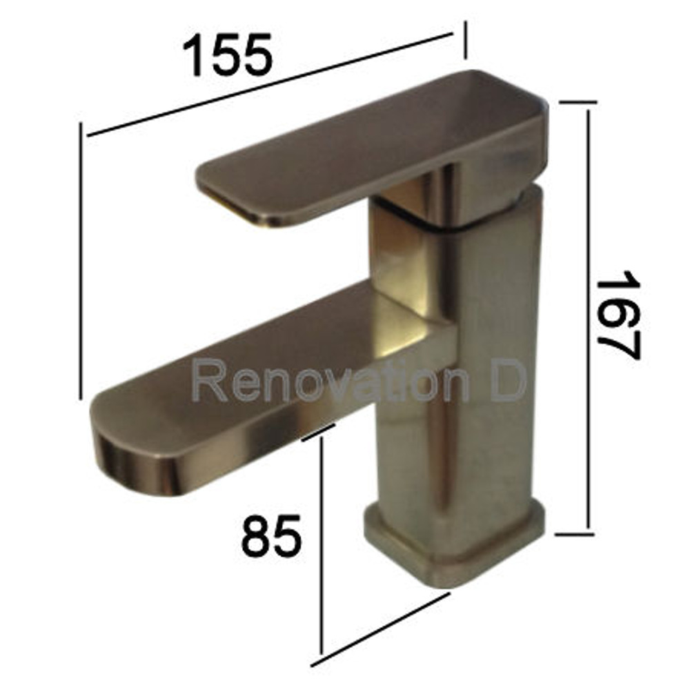 Brushed Nickel Satin - Basin Mixer Tap