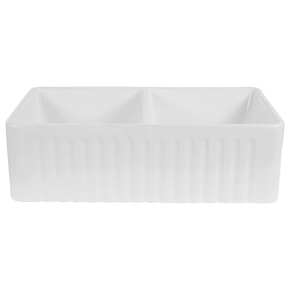 Normandy Ceramic Fireclay Butler Double Kitchen Sink