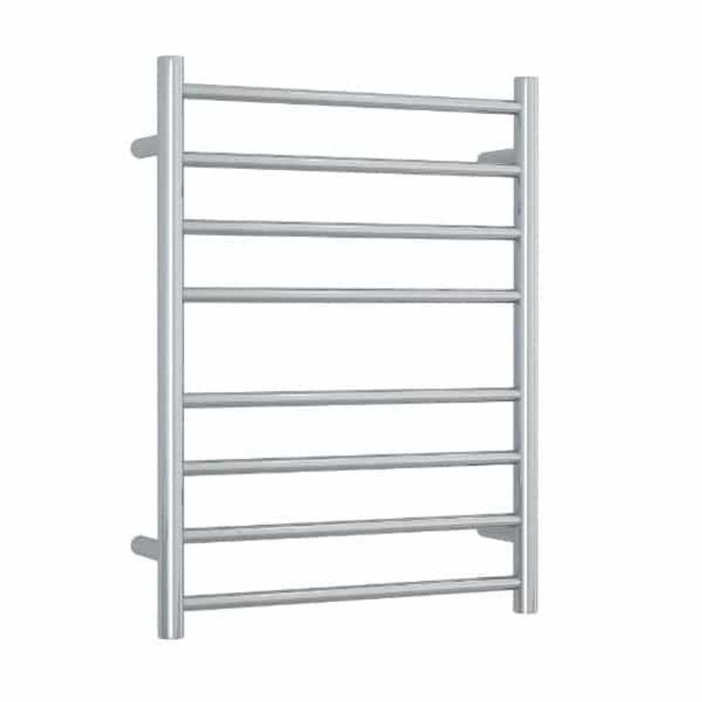 Brushed Stainless Steel, Brushed Nickel Heated Towel Rail - Round
