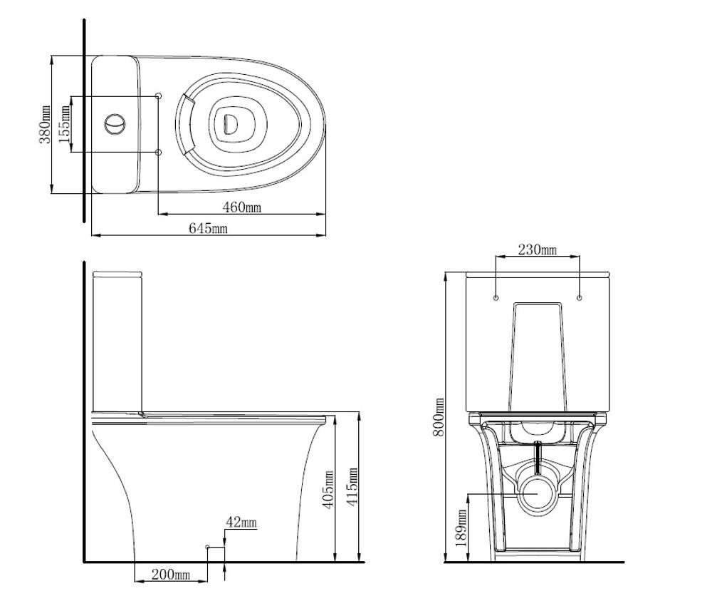 Arrow 2164 Closed Couple Toilet Suite