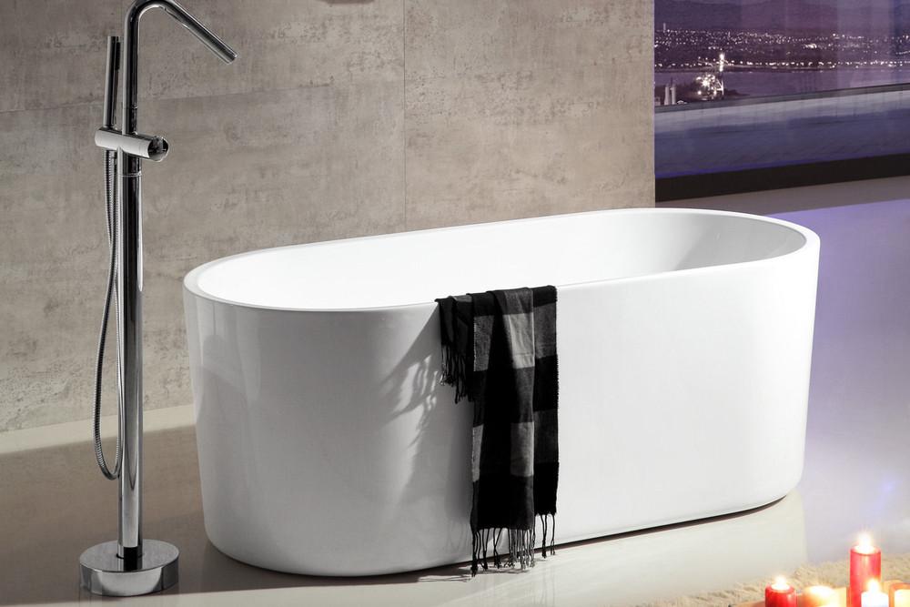 Alexander Slim Lip Oval Bevel Sides Freestanding Bath Tub 1500mm/1700mm