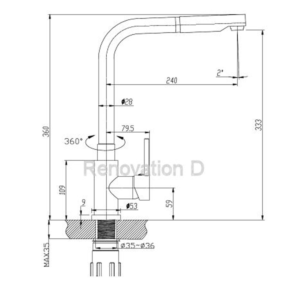 Lollypop ARINNA Pull Out Kitchen Mixer Tap