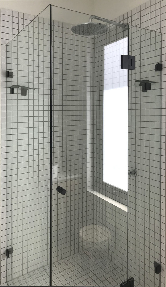 Wall To Wall Frameless Shower Screen 1240-2440mm A+B+C 3 Panels