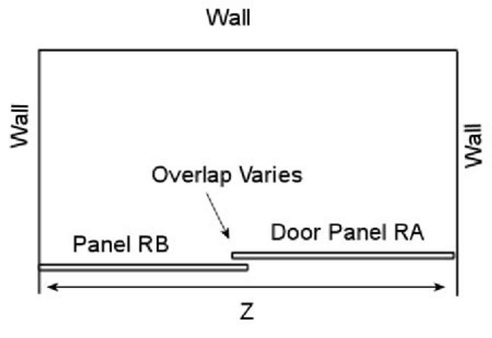 Wall to Wall Sliding Frameless Shower Screen -Roller 2 Panels 990mm - 1590mm