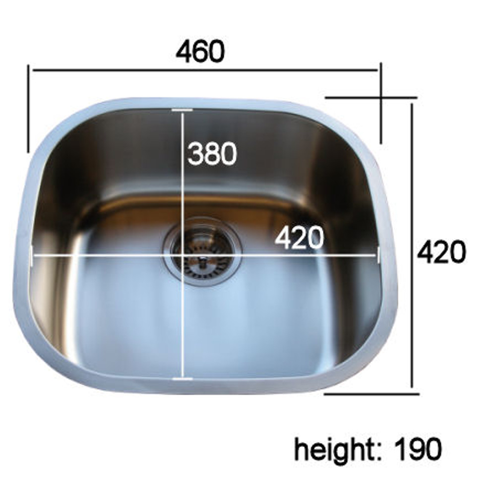 PROJECT Satin Under Bench Under Mount  Stainless Steel Sink -LARGE