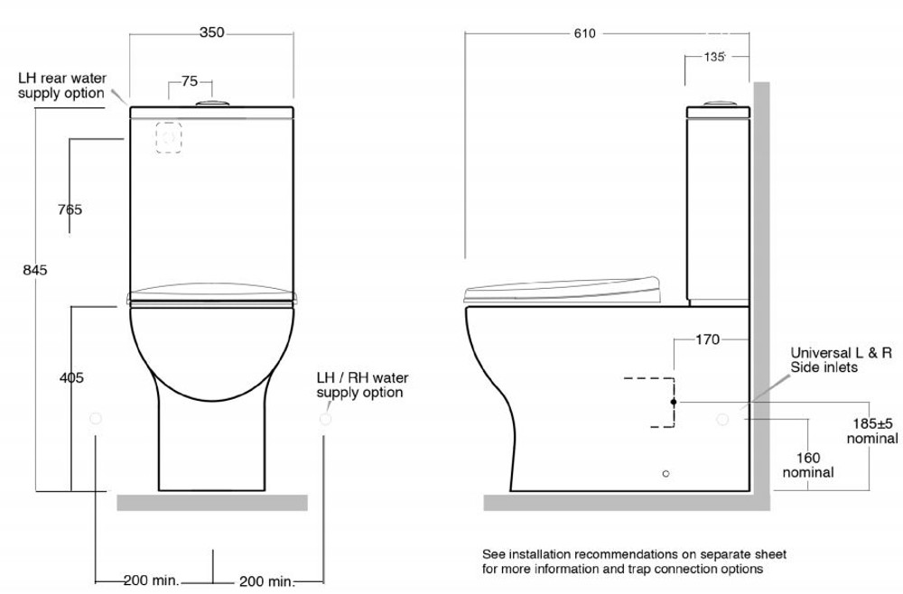 Luxx Wall Faced Toilet Suite