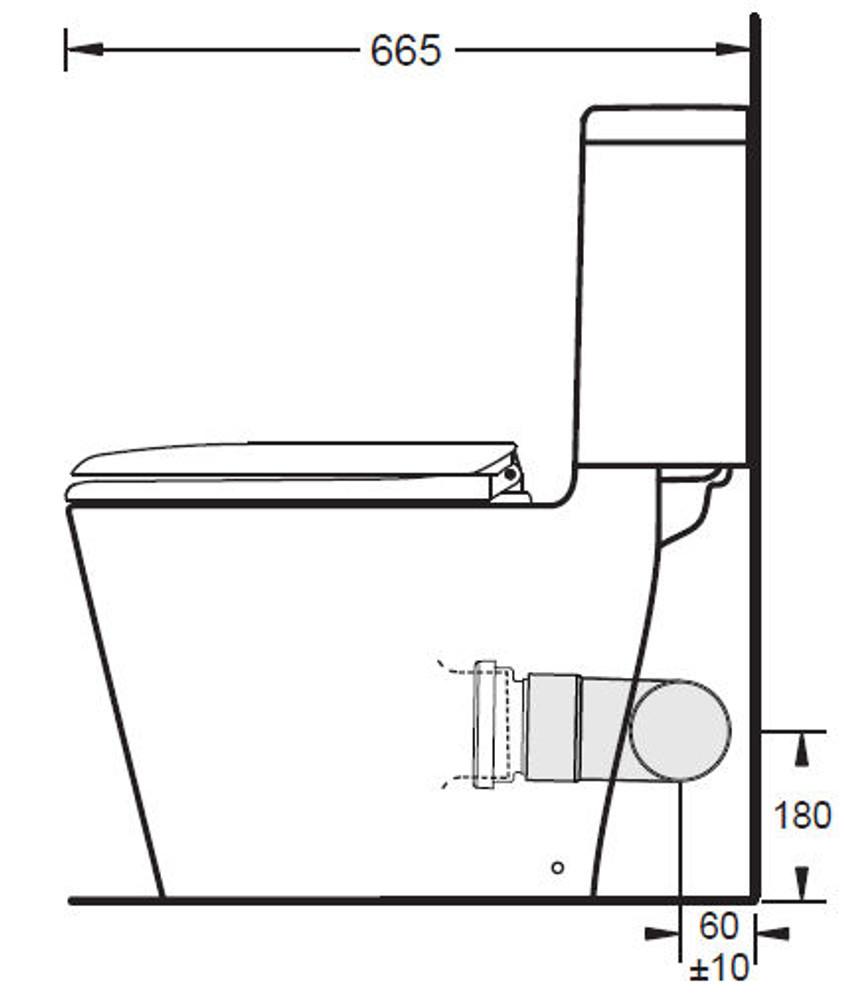 GEMINI Space Solution Skew Toilet