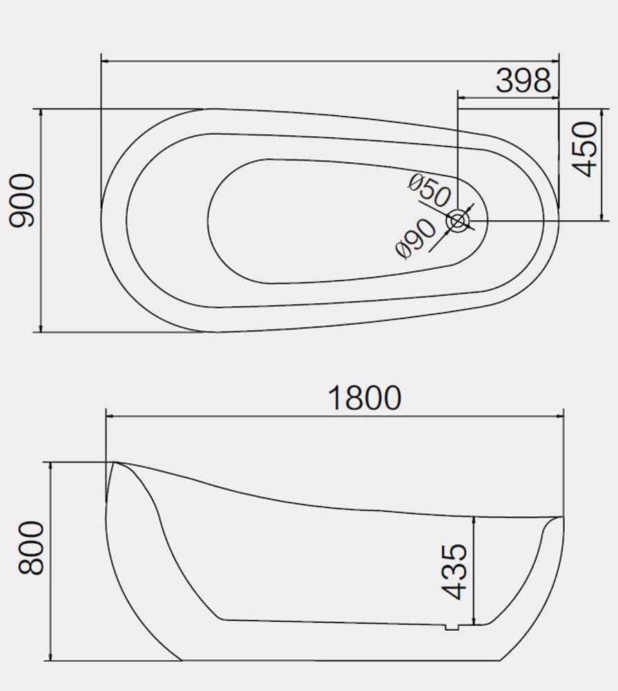 1800 Normandy Egg Freestanding Spa Bath 16 Jets