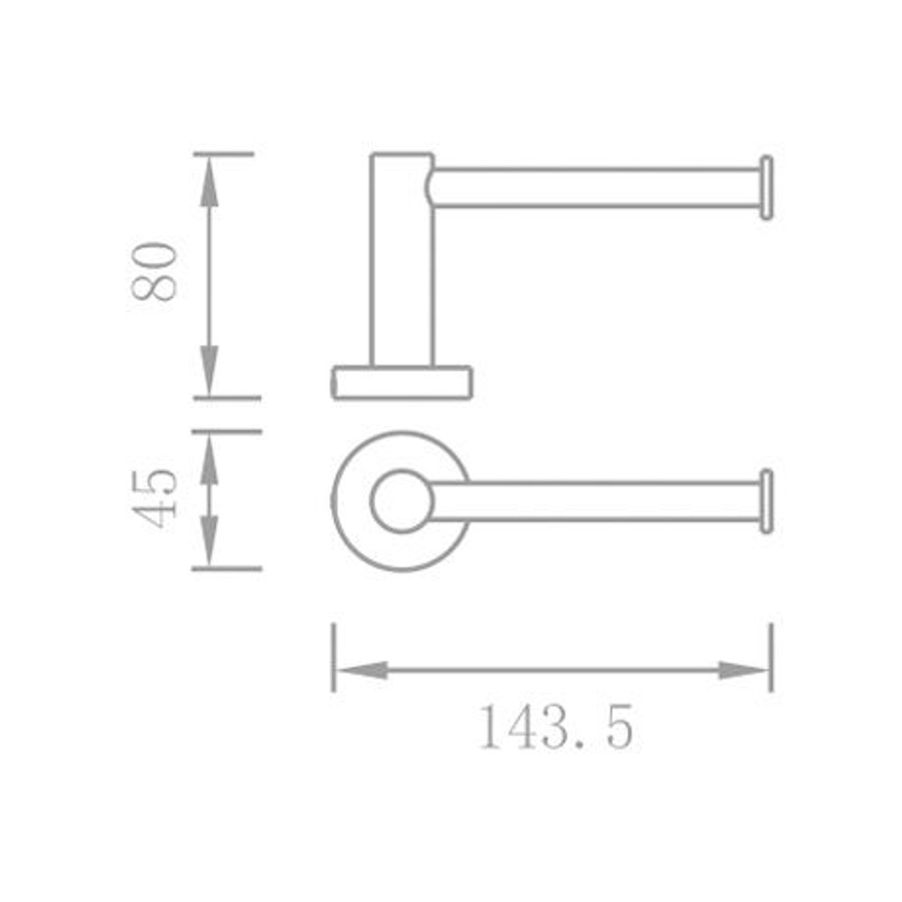 Lollypop Chrome Paper Holder - Vertical or Horizontal