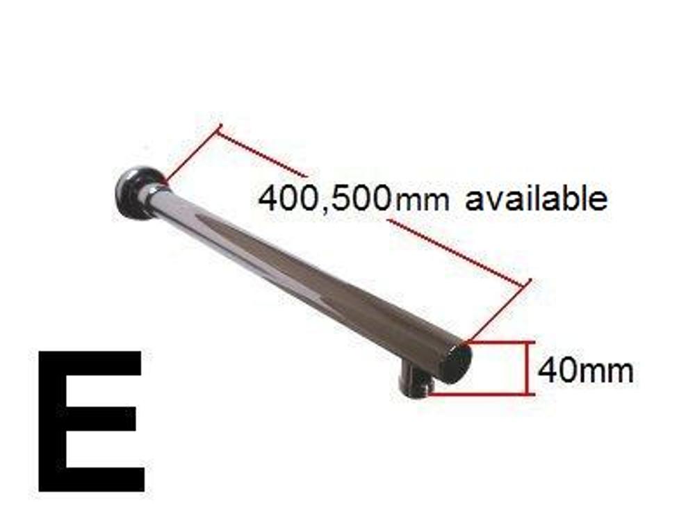 BRASS ROUND Wall Shower Arm 400mm 500mm E