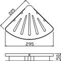Deluxe Single Layer Corner Basket 871-1