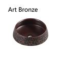Trier Art Basin - Black White Gold Bronze