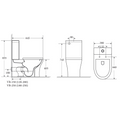 TOI Rimless Wall Faced Toilet Suite
