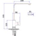 Normandy Gun Metal  No.3 Arch Basin Kitchen Laundry Sink Mixer Tap