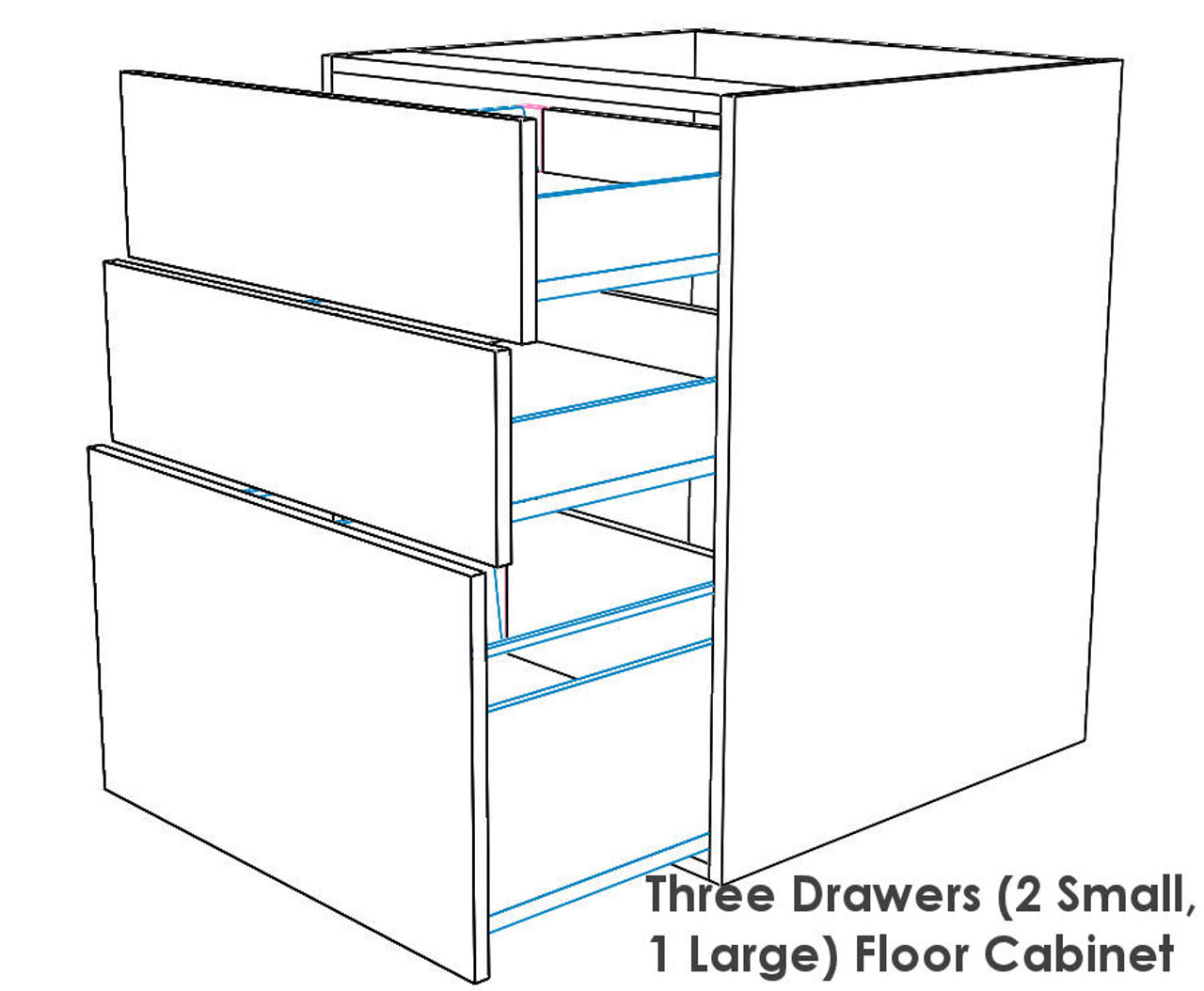 Picture of: Kitchen Base Cabinet W 3 Drawers Polyurethane Paint Renovation D