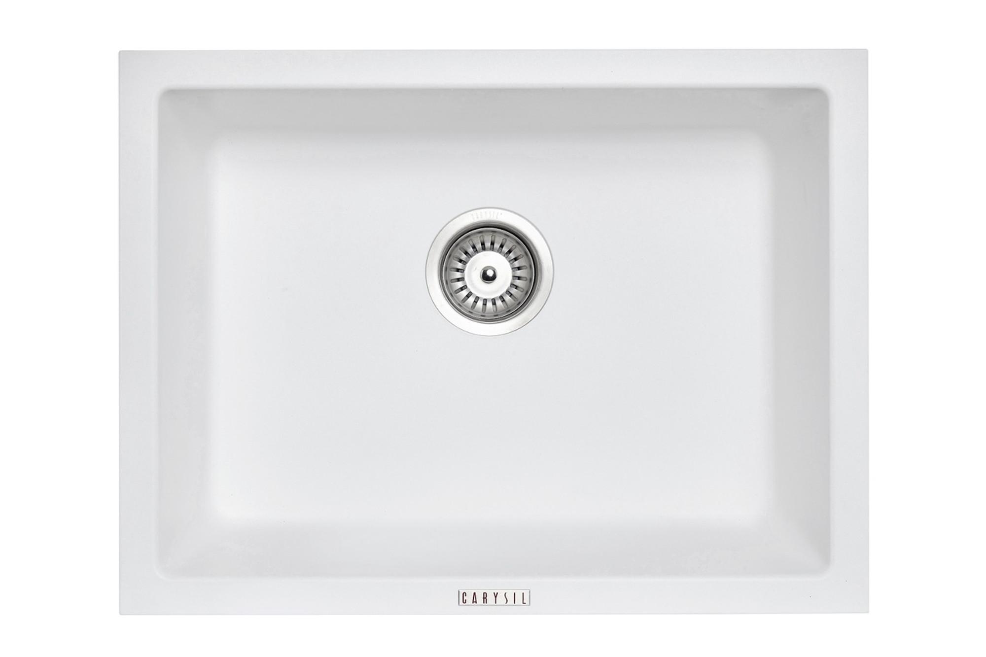 Carysil Granite Kitchen Sink Drop In Or Under Mount Single Bowl 610x457