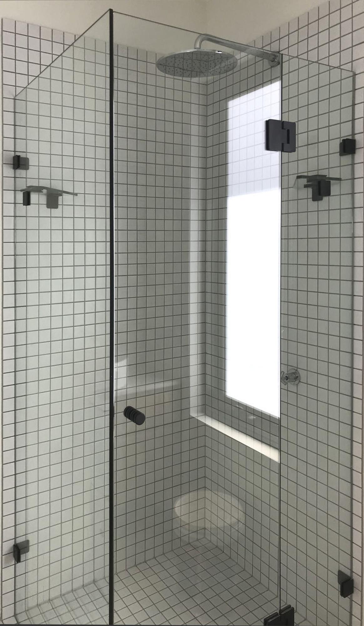 Wall To Wall Frameless Shower Screen 1240 2440mm A B C 3 Panels