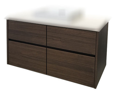Chiron SIX Vanity with Stone Bench & Benchtop Basin 1200mm Floor Staning on Legs HL