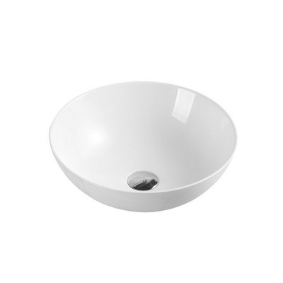 CH03 Above Counter Round Art Basin - Touchline White